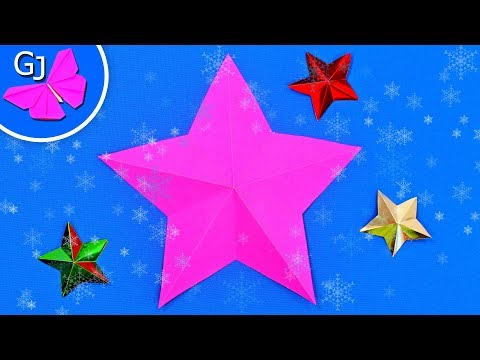 Видео как нарисовать звезду на бумаге