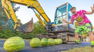 SMASHING WATERMELON WITH TANK!!