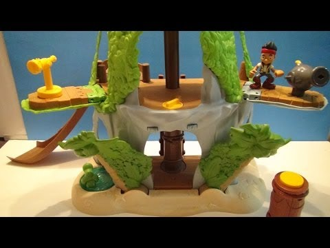 DISNEY'S MAGICAL TIKI HIDEOUT FROM JAKE AND THE NEVERLAND PIRATES PLAYSET VIDEO TOY REVIEW