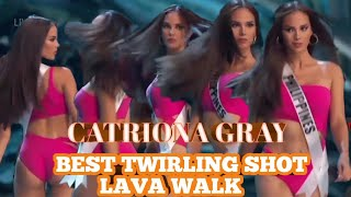 (HD) CATRIONA GRAY BEST SHOT TWIRLING AND LAVA WALK MISS UNIVERSE 2018