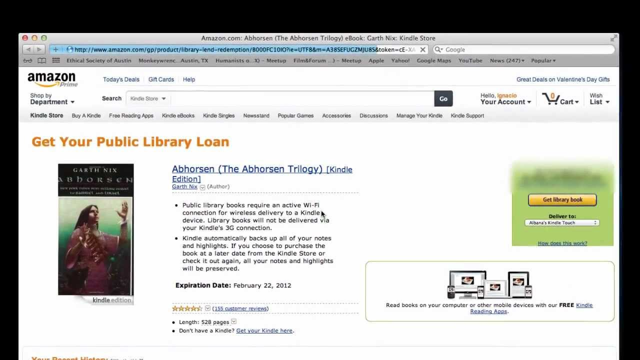 remove library books from kindle