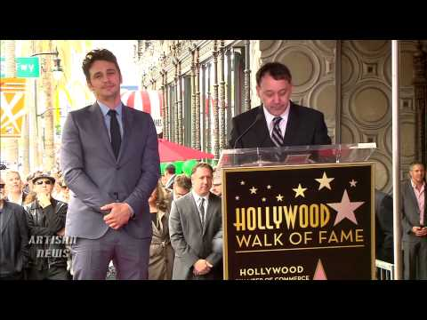 JAMES FRANCO GETS STAR ON HOLLYWOOD WALK OF FAME