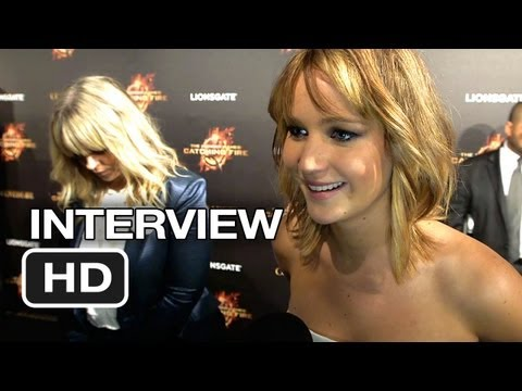 The Hunger Games: Catching Fire Cannes Film Festival Interview - Jennifer Lawrence (2013) HD