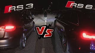 Audi RS3 Vs Audi RS6 Streetrace Striben
