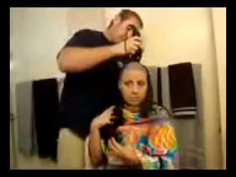 Women Head Shave video