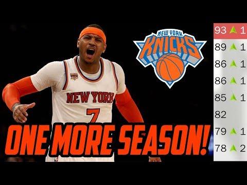 BACK TO BACK MVP'S! Re-doing Knicks Offseason! NBA 2K18