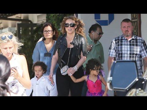 Mariah Carey desayuna champán y se muestra borracha junto a sus hijos