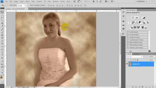 Artistic Cloud Canvas Bride Photoshop tutorial