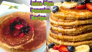 HEALTHY BANANA AND OATMEAL PANCAKE WITH JUICE PLUS
