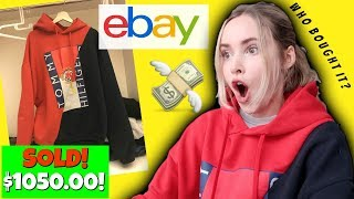 I Sold My Hoodie On eBay for $1050.00!!!