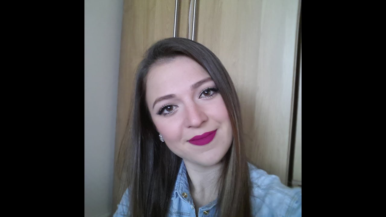 Mat FuŞya Ruj Makyaji Matte Fushia Lipstick Makeup