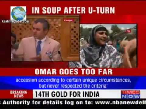 Omar  Abdullah speaking Truth about Kashmir