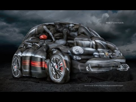 Behind the Scenes (ze zákulisí): FIAT Abarth 500 Cabrio Body Paint