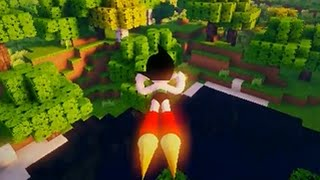 Minecraft mod Astro Boy Custom Steve Animations release