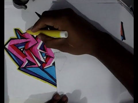 Vídeo Aula com Gene do Grafite 059 - Letra Grafitada Rosa 3ª Parte