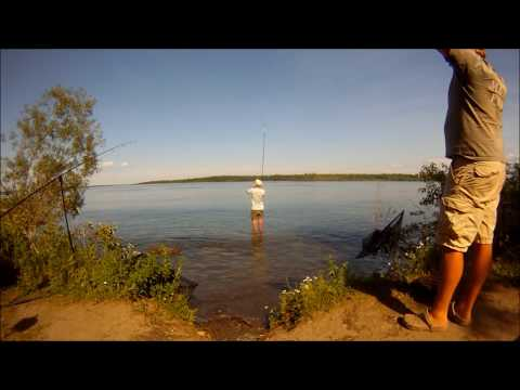 Carp Fishing, St Lawrence River, Ontario, Canada 2012