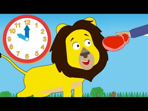 Feeding Time At Number Zoo   Learn To Tell Time With Toddler Fun Learning