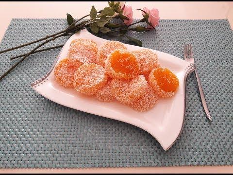 Апельсиновый локум (Portaklli lokum) Турецкие сладости.