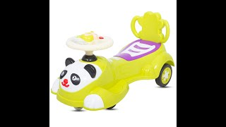 Baybee Panda Baby Swing Magic Car Free Wheel Magic Car   Ride on Toys