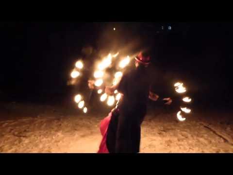 Ретро стиль огненное шоу (фаер шоу Pegas Fire Show)