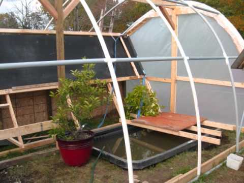 Hybrid Solar / Rocket Stove Mass Heater Greenhouse