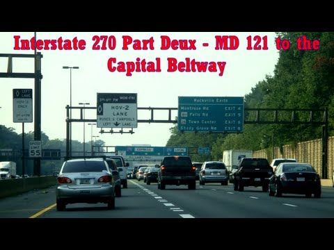 Interstate 270 in MD - from Clarksburg to 'the Split'. A Road Thrills / MD Freeways co-production