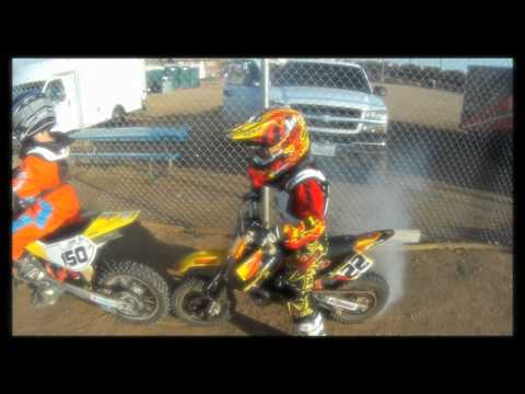 Motocross Kids Rippin On Dirt Bikes