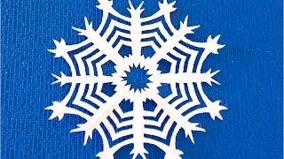 How to cut a paper snowflake