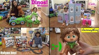 Thomas the Tank Engine Scooter, EZ Railway Set, Ice Castle, Cooking Play Set and The Good Dinosaur