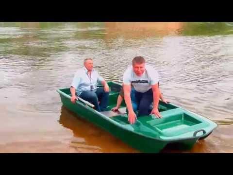 стеклопластиковая лодка романтика видео
