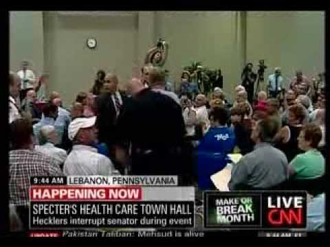 Sen. Arlen Specter Gets Mobbed to Kill Health Care in Lebanon, PA
