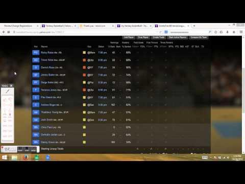 How to Set Lineup on Yahoo Fantasy Basketball - For Newbs