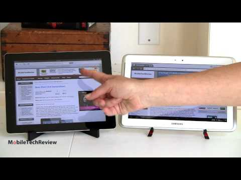 Samsung Galaxy Note 10.1 vs. New iPad Comparison Smackdown Music Videos
