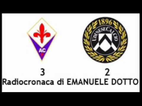 FIORENTINA-UDINESE 3-2 – Radiocronaca di Emanuele Dotto (5/2/2012) da Radiouno RAI