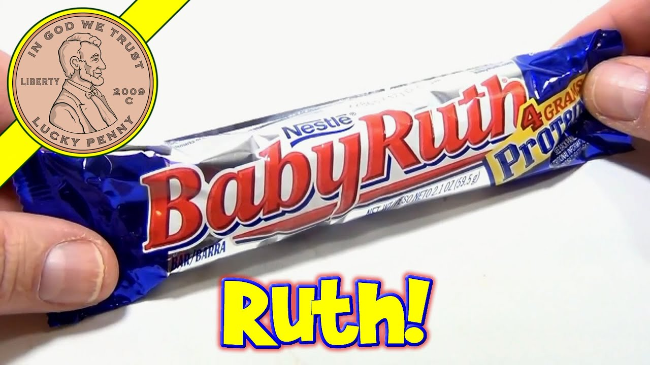 Baby Ruth Bar, Nestle - USA Candy Tasting - YouTube