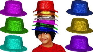 Learn Colors Hats With Funny Baby For Kids Children Babies - Learning Educational Video
