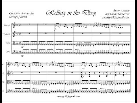 Partitura rolling in the deep