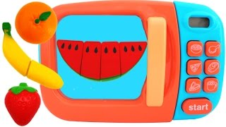 Learn Fruit Names with Squishy Toys & Cutting Fruit Playset for Children
