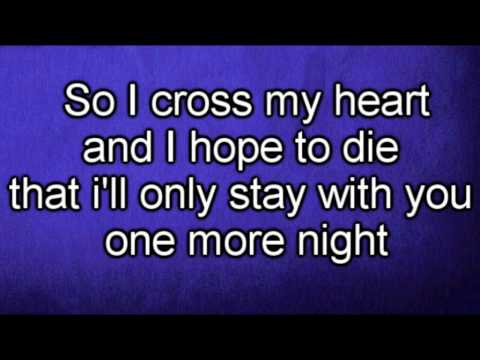 Maroon 5 - One More Night (lyrics) video