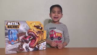 """Metal Machine T-Rex play-set """"Nick and Toys"""" Toy Review"""