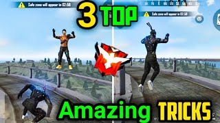 Free Fire Top 3 Awesome Tricks |Surprise Your Enemy Latest Amazing Tricks | Garena Free Fire