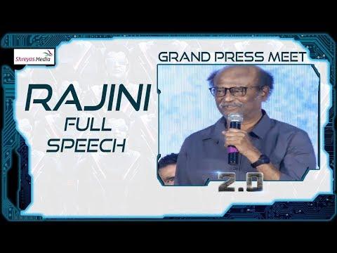 Superstar Rajinikanth Goosebumps Speech in  Telugu @ 2.0 Movie Press Meet