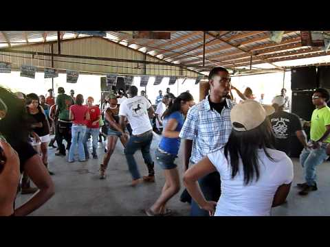 Zydeco dancing after Ville Platte trail ride - August 2011