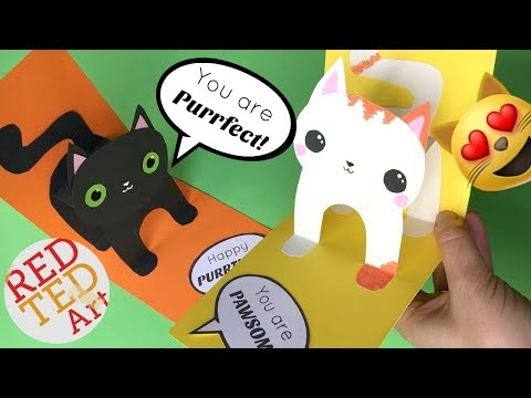 Play Easy 3D Cat Pop Up Card DIY - Birthday Card DIY - Valentine's Day DIY - Christmas Card DIY in Mp3, Mp4 and 3GP