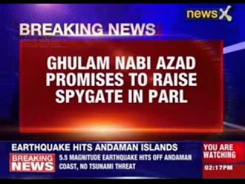 Ghulam Nabi Azad promises to raise spygate in Parliament