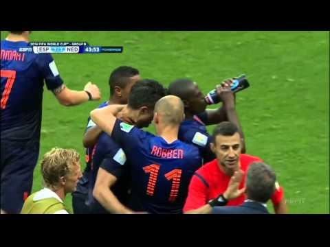 Van Persie Flying Header vs Spain   World Cup 2014