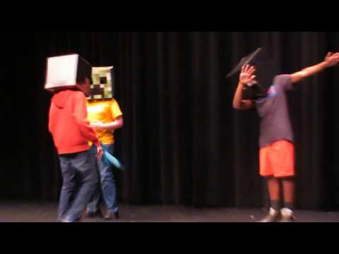 SINGING A MINECRAFT SONG AT MY SCHOOL TALENT SHOW (Congratulations - Galaxy Goats) #1