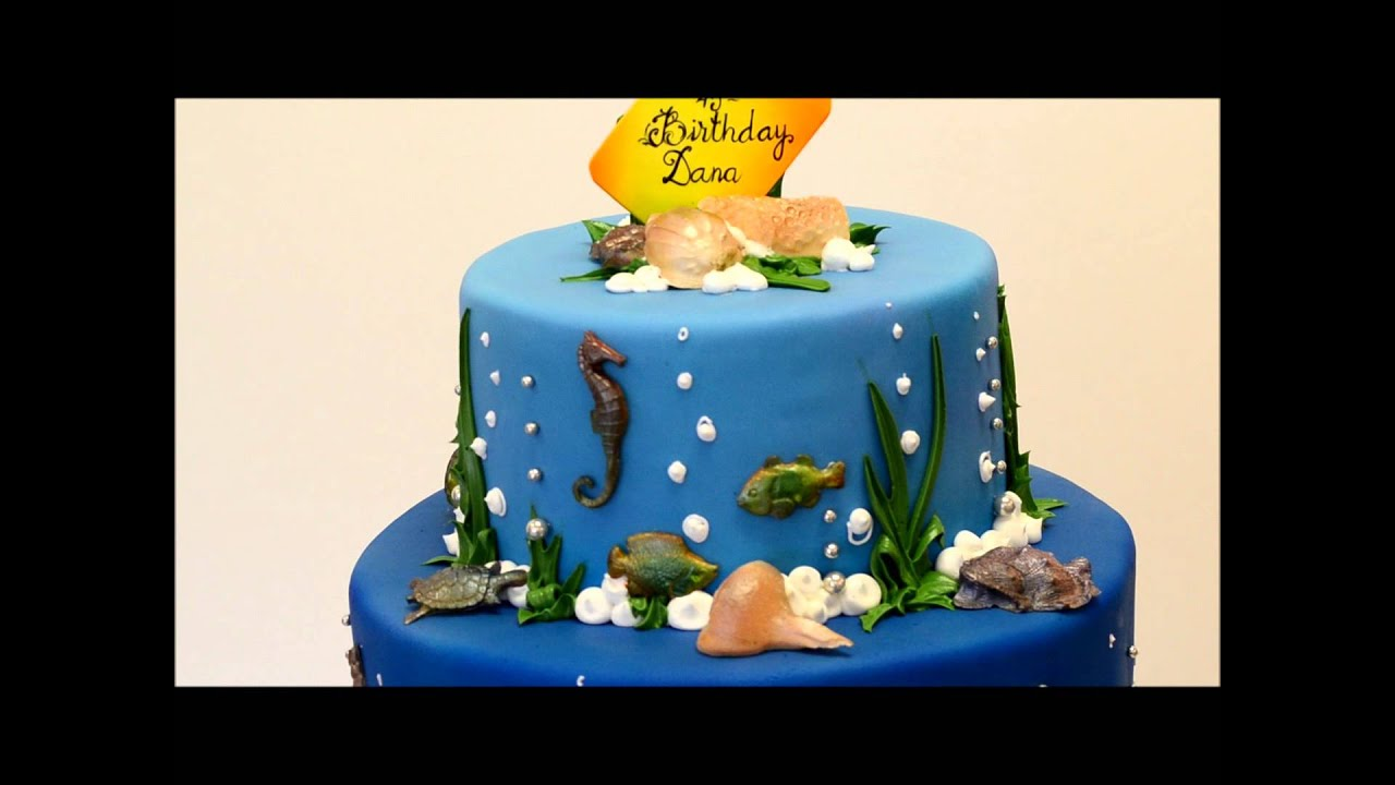 Mermaid Theme Birthday Cake Beach Theme Party Youtube