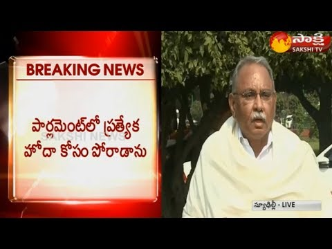 KVP Ramachandra Rao Speaks to Media | Parliament | Delhi Over AP Special Status - Watch Exclusive