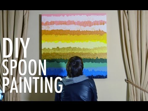 DIY Spoon Painting - Easy Home Decorating with Mr. Kate